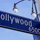 Hollywood signe de route